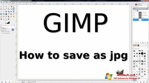Snimak zaslona GIMP Windows 10