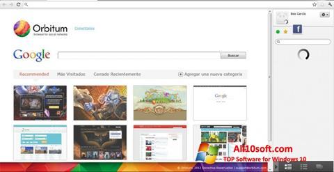 Snimak zaslona Orbitum Windows 10