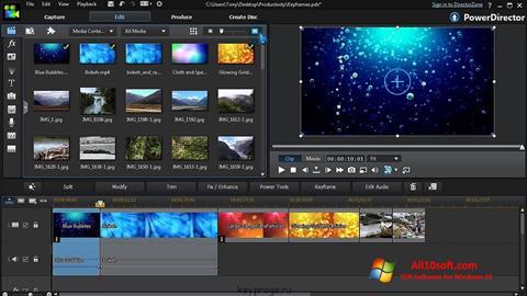 Snimak zaslona CyberLink PowerDirector Windows 10