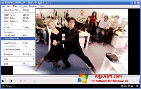 Snimak zaslona Media Player Classic Windows 10