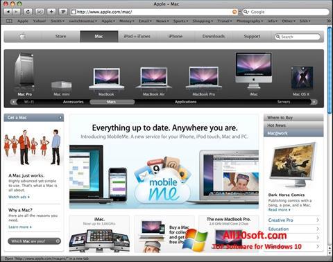 Snimak zaslona Safari Windows 10