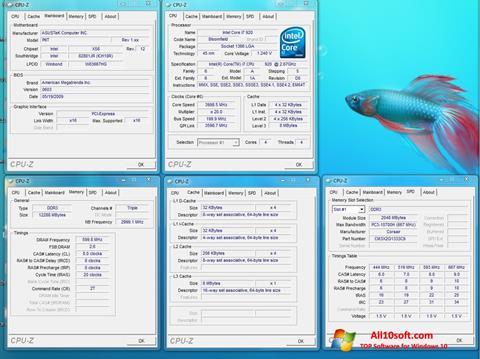 Snimak zaslona CPU-Z Windows 10