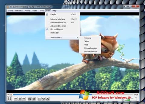 Snimak zaslona VLC Media Player Windows 10