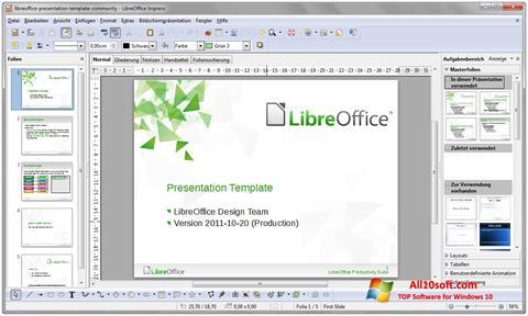 Snimak zaslona LibreOffice Windows 10