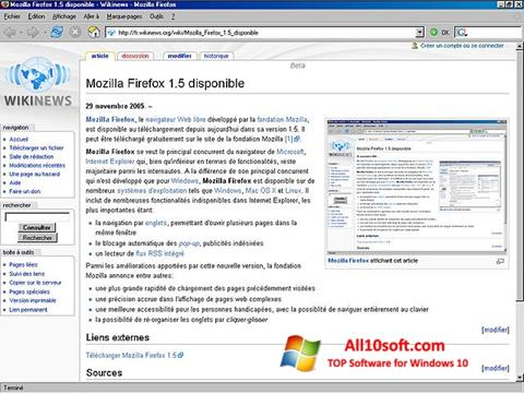 Snimak zaslona Mozilla Firefox Windows 10