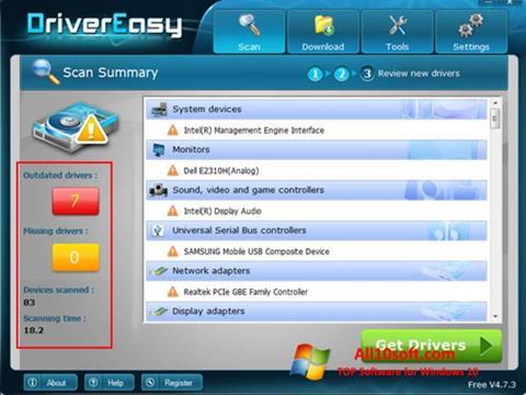 Snimak zaslona Driver Easy Windows 10
