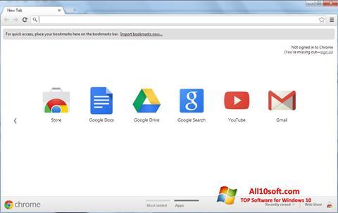 Snimak zaslona Google Chrome Windows 10