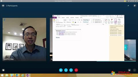 Snimak zaslona Skype for Business Windows 10