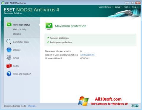 Snimak zaslona ESET NOD32 Windows 10