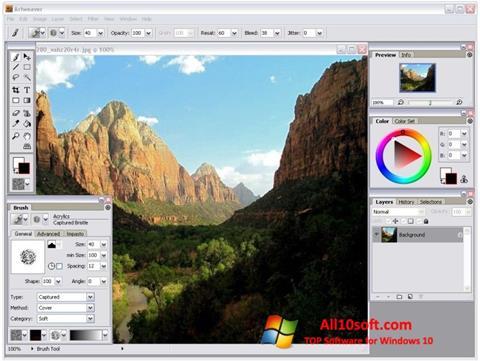 Snimak zaslona Artweaver Windows 10