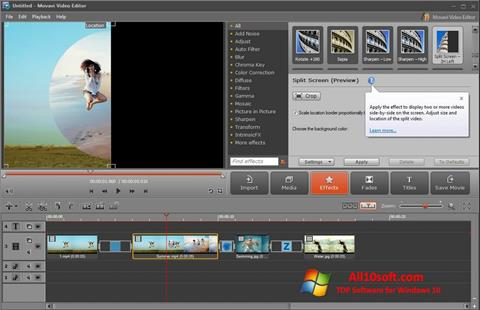 Snimak zaslona Movavi Video Editor Windows 10