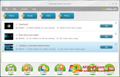 Snimak zaslona Freemake Video Converter Windows 10
