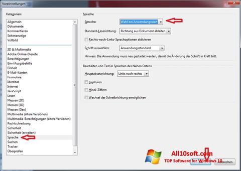 Snimak zaslona Adobe Reader Windows 10