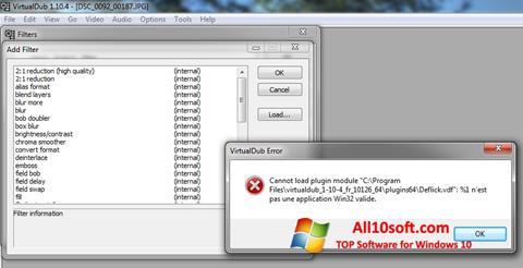 Snimak zaslona VirtualDub Windows 10