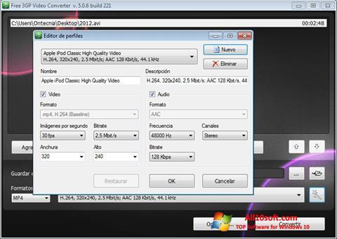 Snimak zaslona Free MP4 Video Converter Windows 10